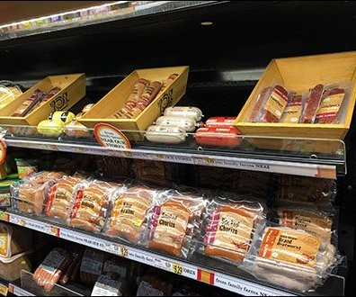 Trapazoidal Wood Trays for Summer Sausage