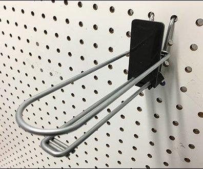 Auto Feed Loop Hook Pegboard Tray