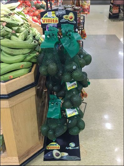 Authentic Avocado Mesh Bag Merchandising
