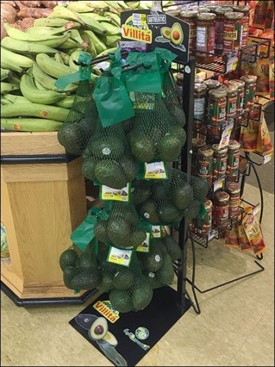 Avocado Mesh Bag Merchandising Rack 3