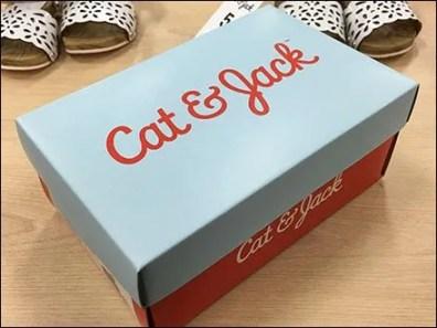 Cat and Jack Shoe Box Branding