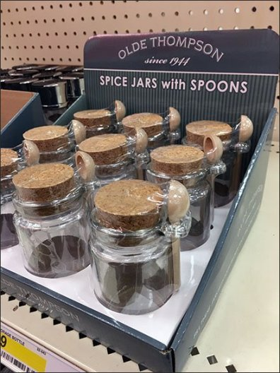 Spice Jars With Outboard Wood Spoons