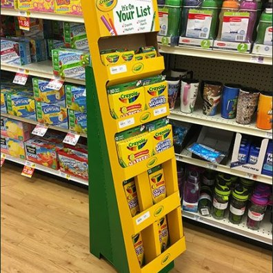 Crayola On Your List Corrugated Display 3
