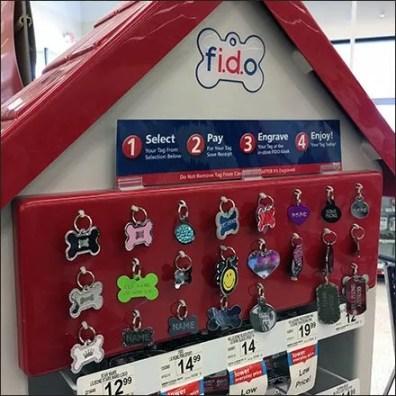 FIDO Engraved Dog ID Merchandising