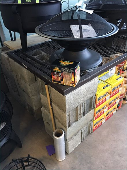 Firepit Grill D.I.Y. Expanded Metal Platforms