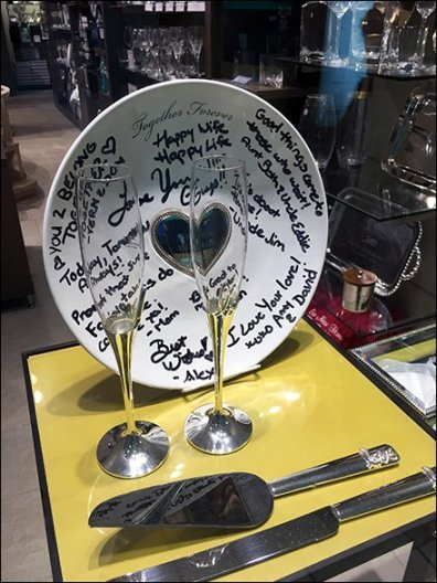 Hand-Signed Tableware As Visual Prop