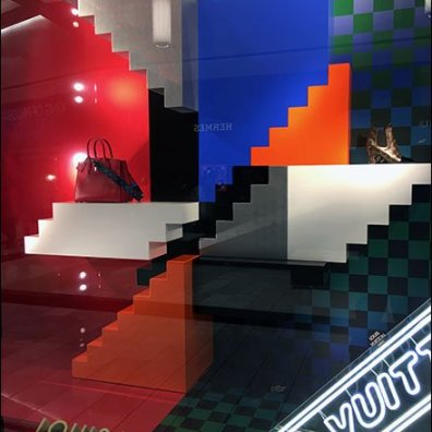 Louis Vuitton Impossible Stairway Purse Window 2