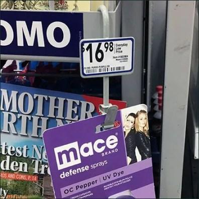 Mace Self Defense Sold By Strip Merchandiser