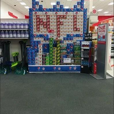 NFL Super Bowl Planogram For Pepsi & Mtn Dew