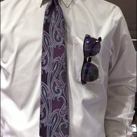 Necktie With Matvhing Sunglasses 2
