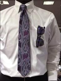 Necktie With Matvhing Sunglasses 2