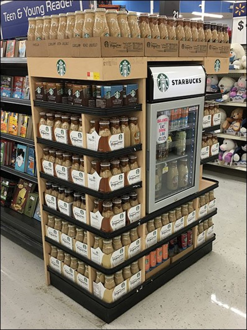 Starbucks Endcap Cooler Display 3