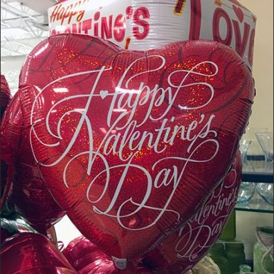 Valentines Day Balloon Corrugated Anchorage Pedestal