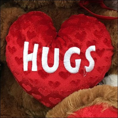 Plush Shelf Messaging For Valentines Day
