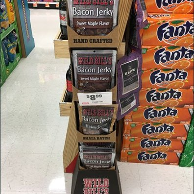 Wild Bill Beef Jerky Corrugated Tower 3