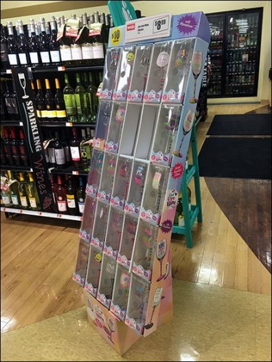 Hand-Painted Wine Glass Grab-N-Go Display