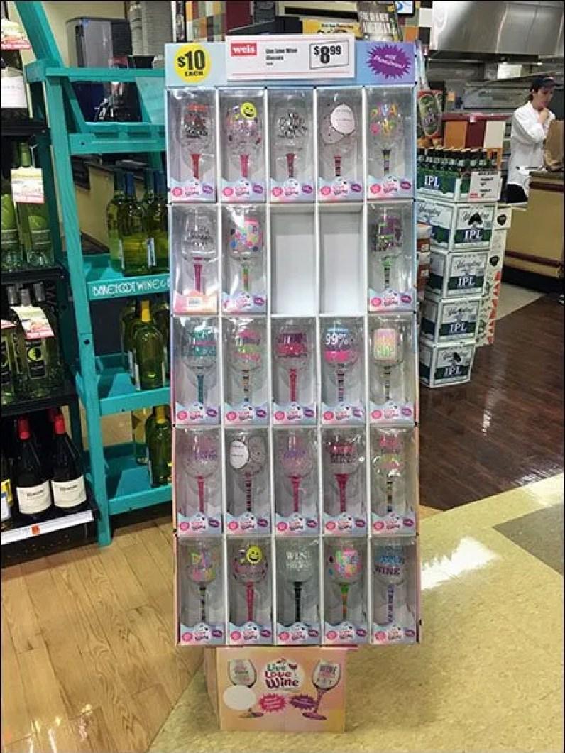 Wine Glass Corrugated Display 3