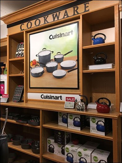 Cuisinart Millwork Cookware Wall Display