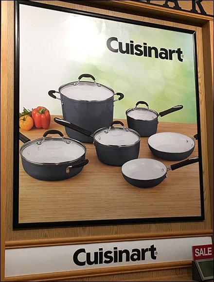 Cuisinart Cookware Millwork Wall Display