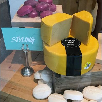 Cheese Wheel Soap Visual Merchandising 2