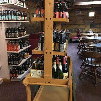 Craft Beer Wood Cart At Goldsteins