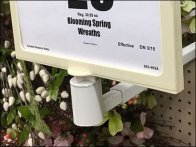 Floral Wreath Far Forward Sign Holder Arm 2