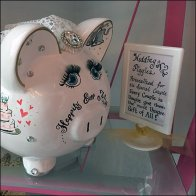 Hand Personalized Wedding Piggies Hand-lettered Sign Feature