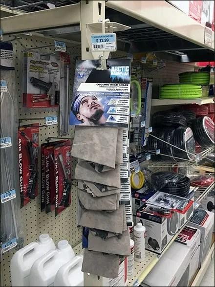 Hang-Rod Bandana Strip Merchandiser Mount