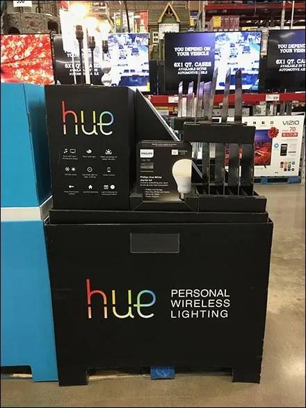 Hue Corrugated Lighting Display 3
