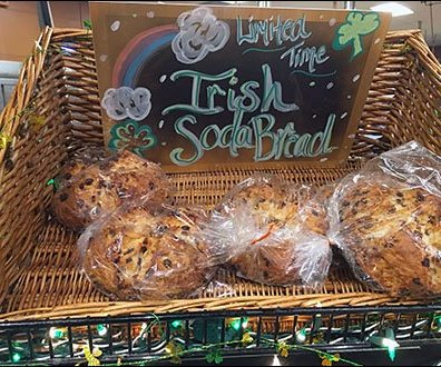 Irish Soda Bread Wicker Basket Limited Time Offer