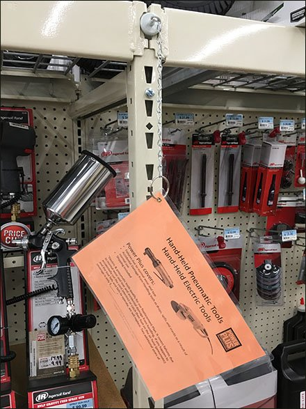Magnetic Strip Merchandiser Mount and Tether