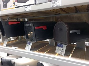 Shelf-Top Mailbox Kickstand Display