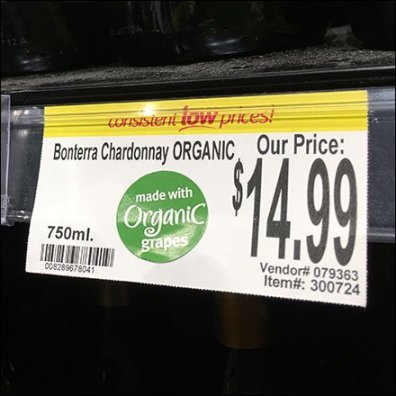 Organic Wine Promo Clip Shelf Talker