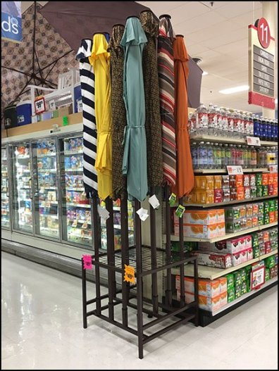 Patio Umbrella Floorstand With Wire Grid