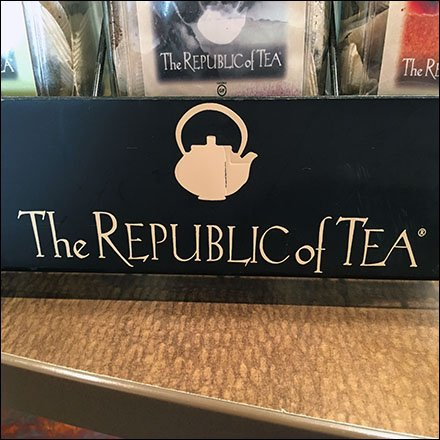 Tea Retail Fixtures and Merchandising - Republic of Tea Branded Rack At Panera Bread