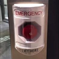 Please Hold Hands Using Revolving DoorEmergency Stop