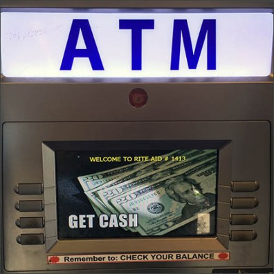 ATM Promotes $20 Bill Cash Withdrawal