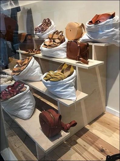 Sandals Sold In Sacks Visual Merchandising