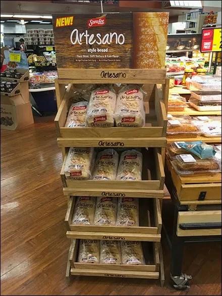 SaraLee Artesano Bread Declined Wood Rack 3