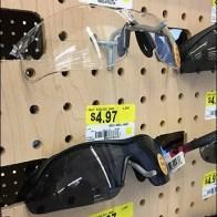 Simple Pegboard Hook Sunglass Display