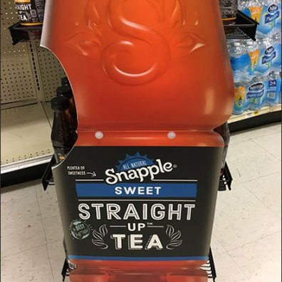 Giant Snapple Straight Up Sweet Tea Display
