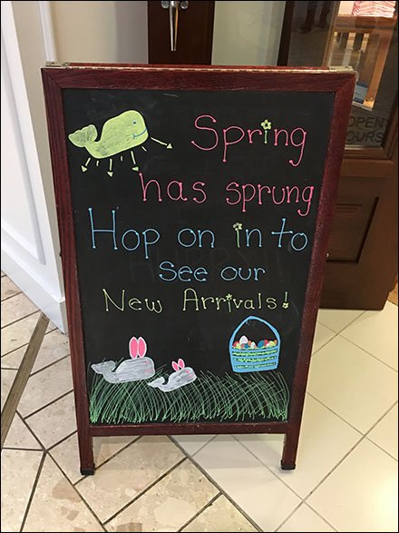 Spring Has Sprung Sidewalk Chalkboard Sign