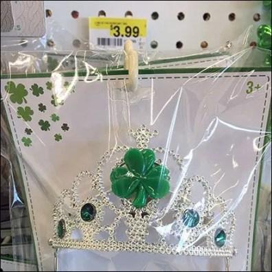 Anti-Sweep Hook St Patrick's Day Tiara