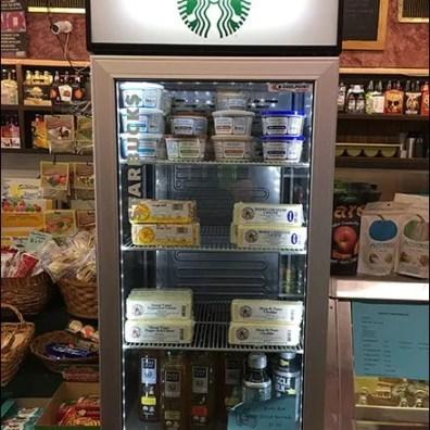Starbucks Beverage Display Takeover Fixtures Close Up
