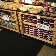 Slatted Table Display With C-Channeled Niches