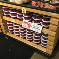 Weis Slatted Table Display With Niches 2
