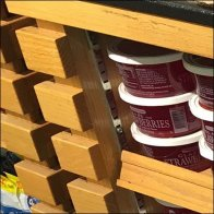 Weis Slatted Table Display With Niches Feature