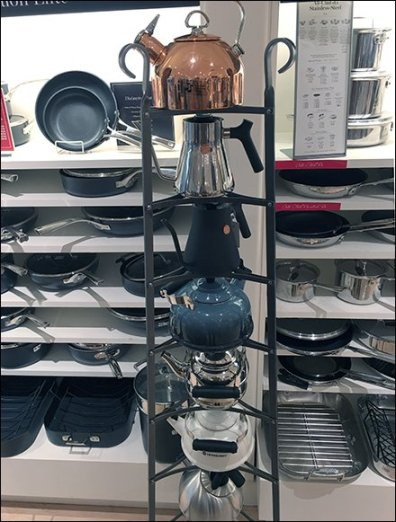 Williams Sonoma Coffe and Tea Kettle Tower 2