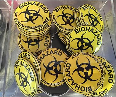 Biohazard Acrylic Bulk Bin 2