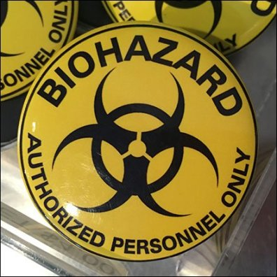 Biohazard Acrylic Bulk Bin Feature